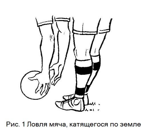 Ловля мяча двумя руками. Обучение игре в футбол