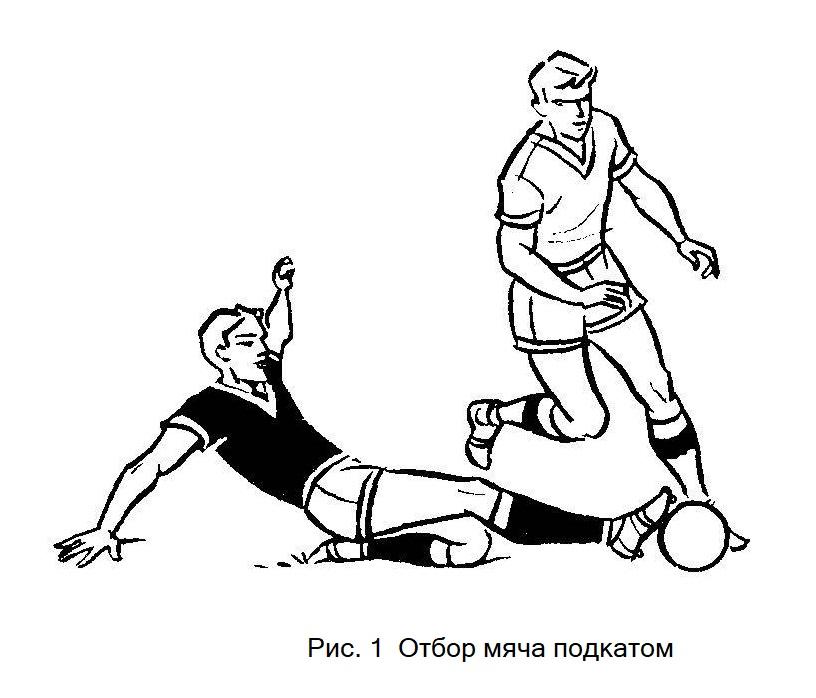 Отбор мяча подкатом в футболе. Обучение игре в футбол