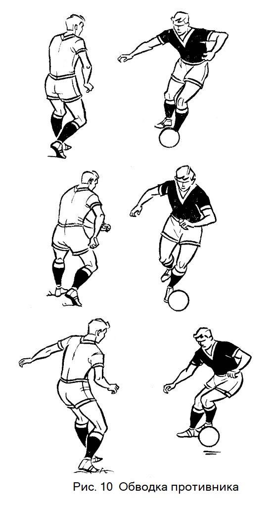 Обводка противника в футболе