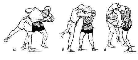 Борьба самбо. Сбивание на одну ногу