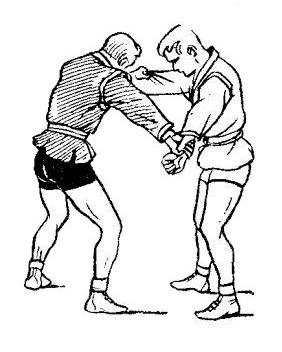 Борьба самбо. Поворот руки противника
