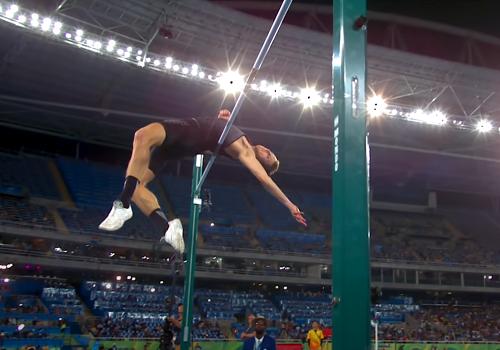 Тренировка в прыжках в высоту с разбега