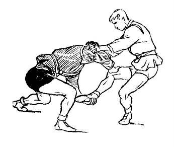 Борьба самбо. Бросок рывком за пятку