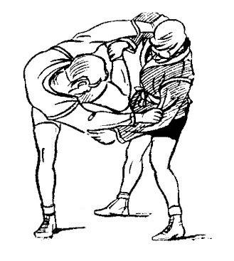 Борьба самбо. Бросок рывком за руку и голень