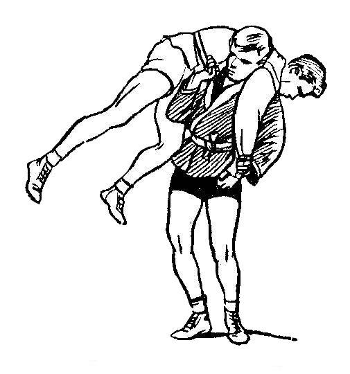 Борьба самбо. Бросок через плечи, мельница
