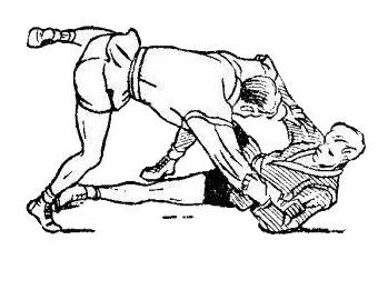 Борьба самбо. Передняя подсечка