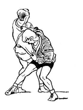 Борьба самбо. Задняя подножка под две ноги