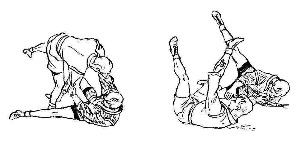Борьба самбо. Боковая подножка