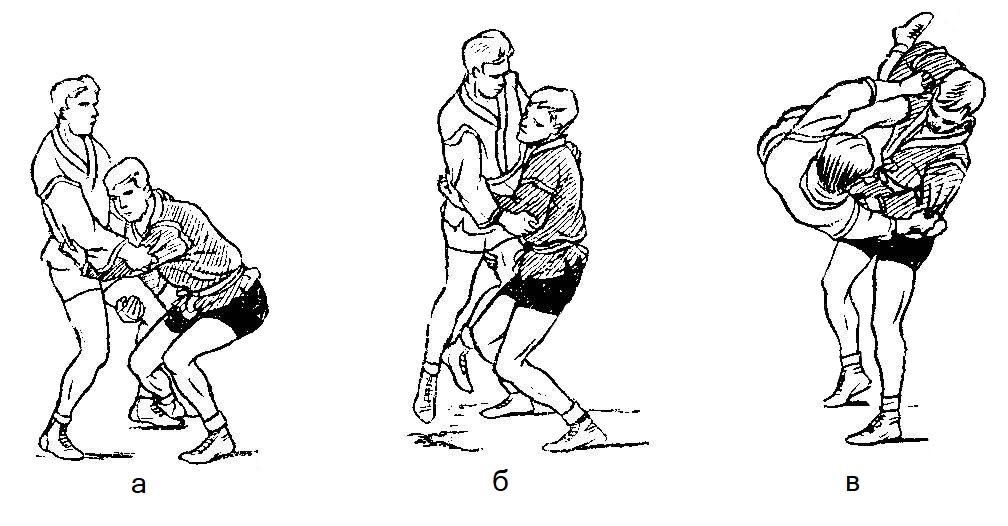 Борьба самбо. Бросок переворотом с захватом ноги снаружи