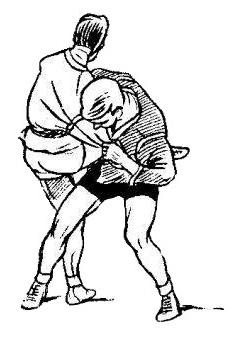 Борьба самбо. Задняя подножка с захватом ноги изнутри