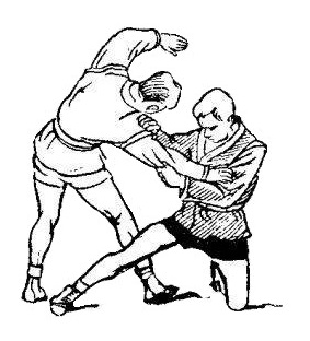 Борьба самбо. Задняя подножка с колена