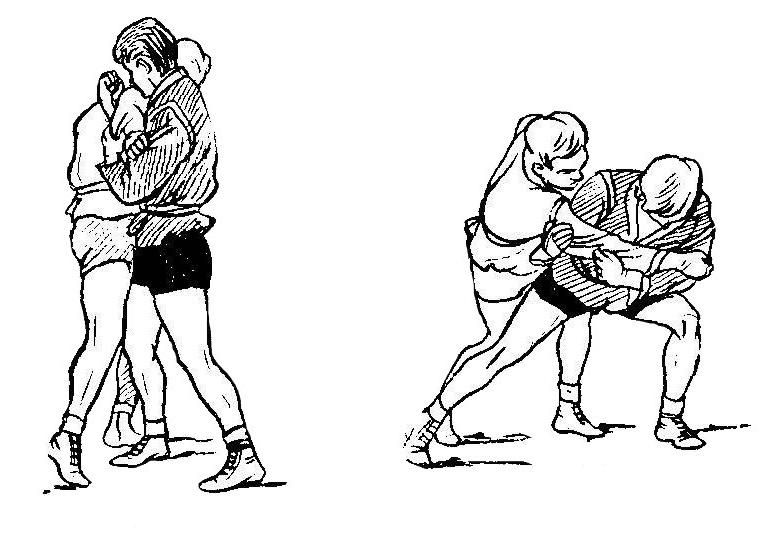 Борьба самбо. Передняя подножка с захватом руки локтевым сгибом