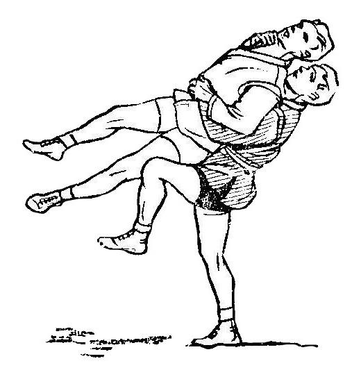 Борьба самбо. Подсад бедром сзади