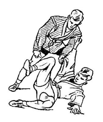 Борьба самбо. Боковая подсечка