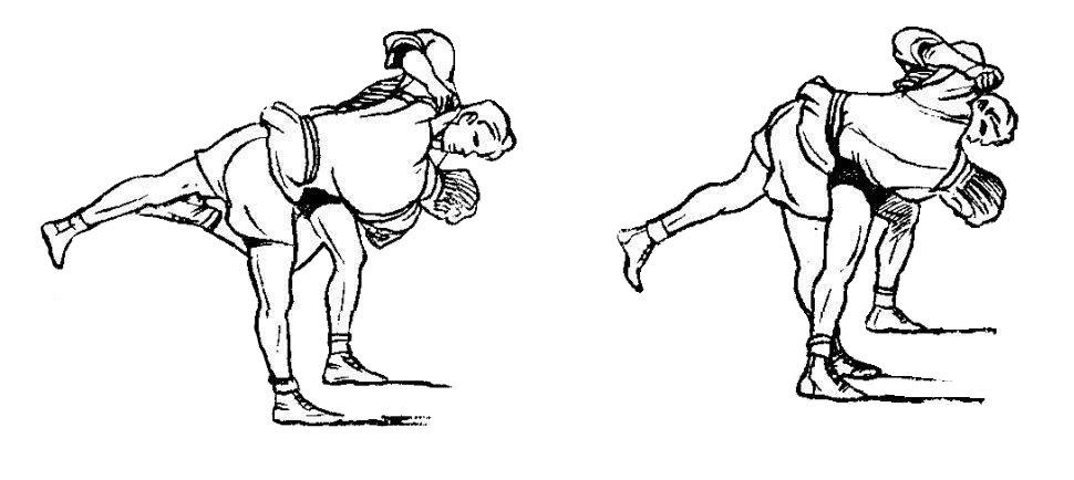Борьба самбо. Передняя подножка от подсечки изнутри в колено