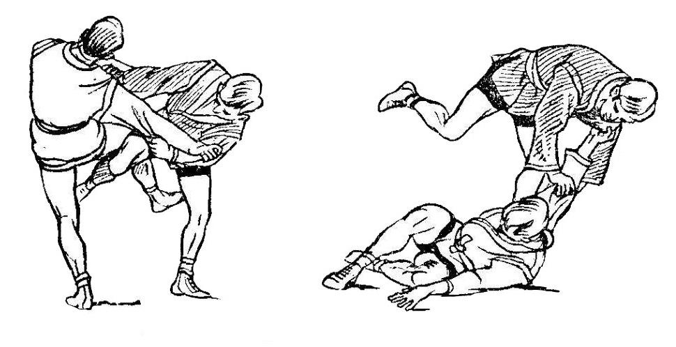 Борьба самбо. Отхват