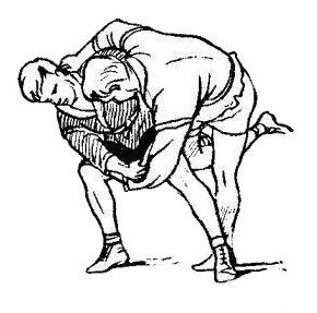 Борьба самбо. Передняя подножка с захватом ноги снаружи