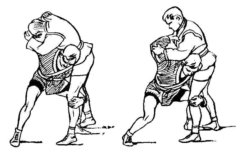 Борьба самбо. Бросок через плечи с захватом ворота или отворота
