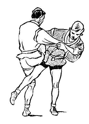 Борьба самбо. Отхват с захватом ноги изнутри