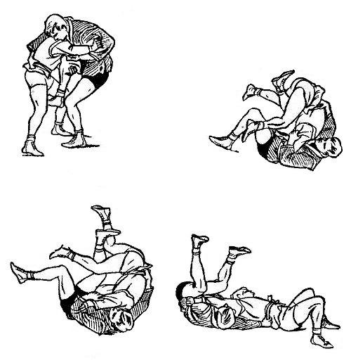 Борьба самбо. Приём против захвата ноги снаружи
