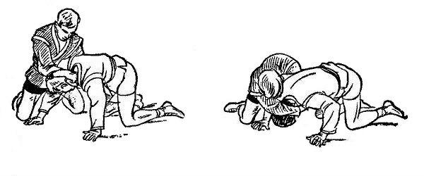 Борьба самбо. Переворачивание косым захватом