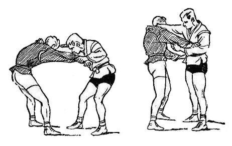 Борьба самбо. Защиты уходами и нырками
