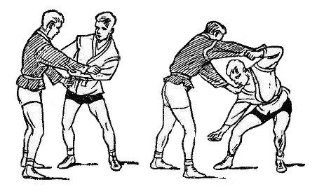 Борьба самбо. Защиты остановкой движения туловища противника