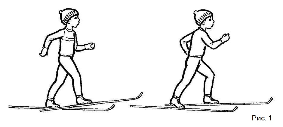 Самый простой способ передвижения на лыжах
