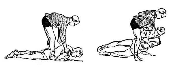 Борьба самбо. Переворачивание поворотом противника