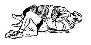 Борьба самбо. Удержание со стороны ног