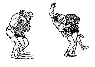 Борьба самбо. Зацеп изнутри от броска с захватом руки на плечо