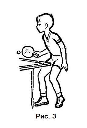 Стойка юного теннисиста