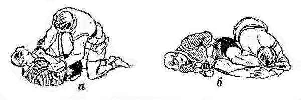 Борьба самбо. Перегибание локтя при помощи ноги сверху против удержания со стороны ног