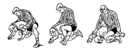 Борьба самбо. Перегибание локтя при помощи бедра сверху