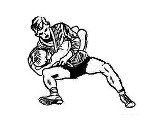 Борьба самбо. Выкручивание плеча подниманием локтя
