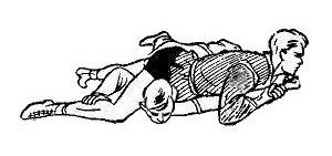Борьба самбо. Перегибание локтя при помощи туловища сверху