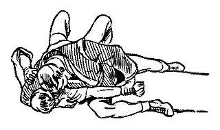 Борьба самбо. Перегибание локтя через бедро